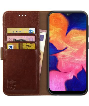 Rosso Element Samsung Galaxy A10 Hoesje Book Cover Bruin Hoesjes