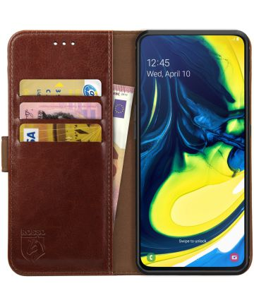 Rosso Element Samsung Galaxy A80 Hoesje Book Cover Bruin Hoesjes