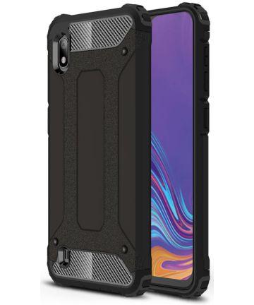 Samsung Galaxy A10 Hoesje Shock Proof Hybride Back Cover Zwart Hoesjes