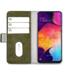 Mobilize Elite Gelly Wallet Samsung Galaxy A50 Hoesje Book Case Groen
