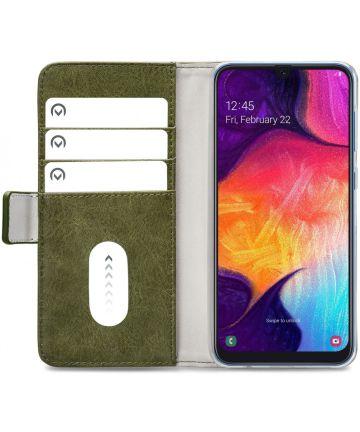 Mobilize Elite Gelly Wallet Samsung Galaxy A50 Hoesje Book Case Groen Hoesjes