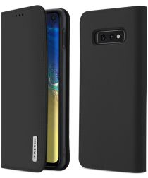 Dux Ducis Luxe Book Case Samsung Galaxy S10E Hoesje Echt Leer Zwart