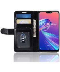 Asus Zenfone Max Pro M2 Portemonnee Hoesje Zwart
