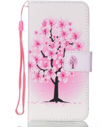 Huawei P30 Portemonnee Print Hoesje Pink Flower