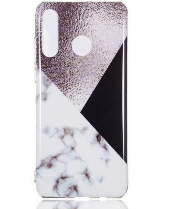 Huawei P30 Lite TPU Hoesje met Marmer Opdruk Bruin Hoesjes