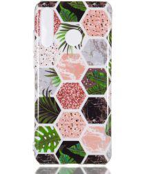 Huawei P30 Lite TPU Hoesje met Marmer Opdruk Hexagon