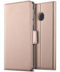 Samsung Galaxy A40 Premium Hoesje met Kaarthouder Roze Goud