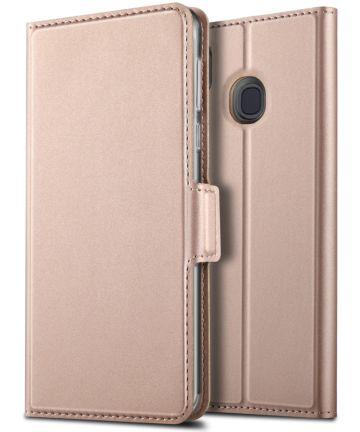 Samsung Galaxy A40 Premium Hoesje met Kaarthouder Roze Goud Hoesjes