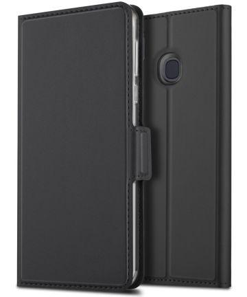 Samsung Galaxy A40 Premium Hoesje met Kaarthouder Zwart