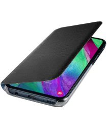 Samsung Galaxy A40 Wallet Cover Zwart