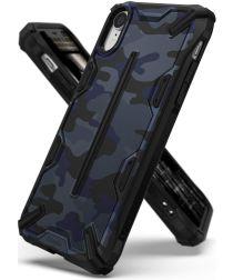 Ringke Dual X Apple iPhone XR Hoesje Camo Blauw