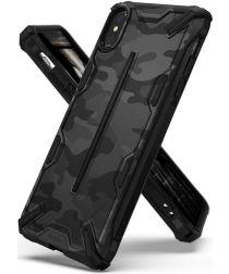 Ringke Dual X Apple iPhone XS Max Hoesje Camo Zwart