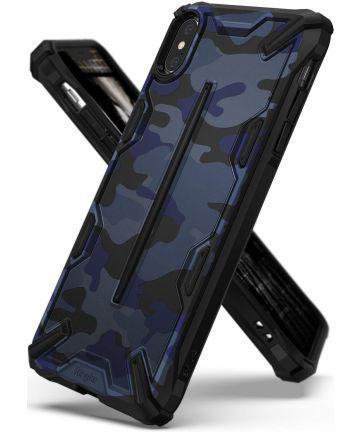 Ringke Dual X Apple iPhone XS Max Hoesje Camo Blauw Hoesjes