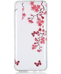 Samsung Galaxy A70 Transparant TPU Hoesje met Bloemen Print