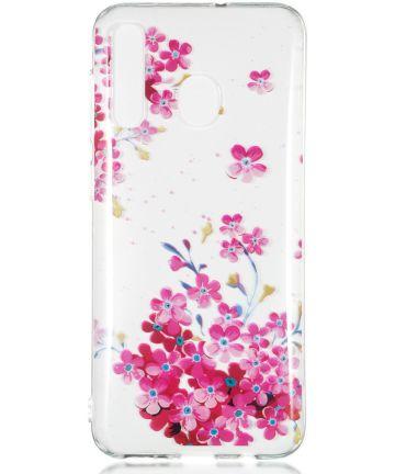 Samsung Galaxy A50 Hoesje TPU met Bloemen Print Hoesjes