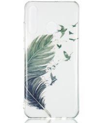 Huawei P30 Lite Transparant TPU Hoesje met Veer Print