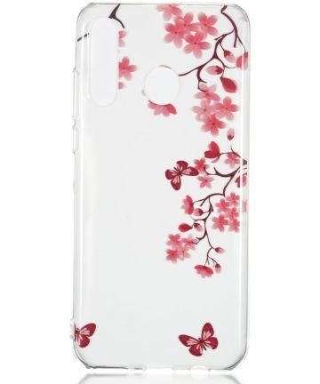 Huawei P30 Lite Transparant TPU Hoesje met Boom Print Hoesjes