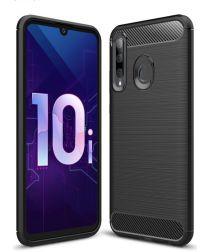 Huawei P Smart Plus (2019) Geborsteld TPU Hoesje Zwart