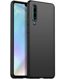 Huawei P30 Dun Mat Back Cover Hoesje Zwart