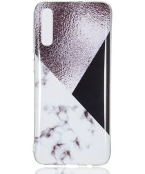 Samsung Galaxy A70 TPU Hoesje met Marmer Opdruk Bruin