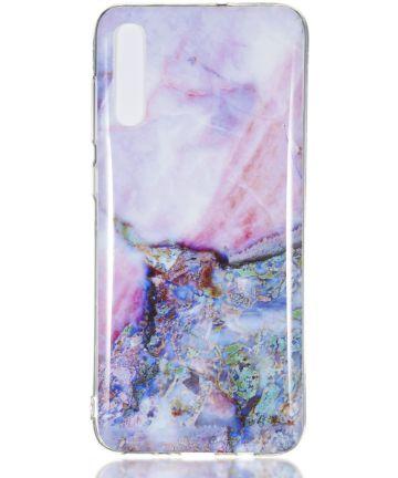 Samsung Galaxy A70 TPU Hoesje met Marmer Print Hoesjes