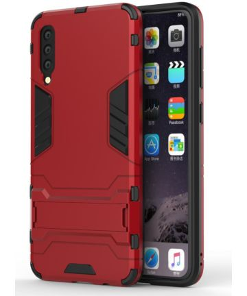 Samsung Galaxy A50 Shock Proof Back Cover Hoesje Hybride Stand Rood Hoesjes
