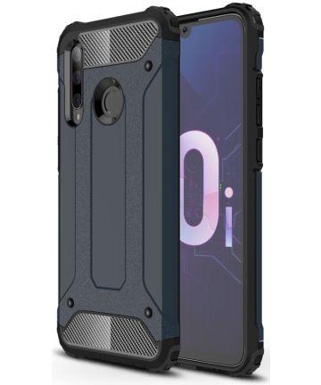 Huawei P Smart Plus 2019 Hybride Hoesje Donker Blauw Hoesjes
