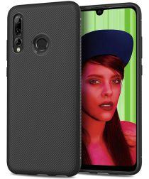 Huawei P Smart Plus 2019 Texture TPU Hoesje Zwart