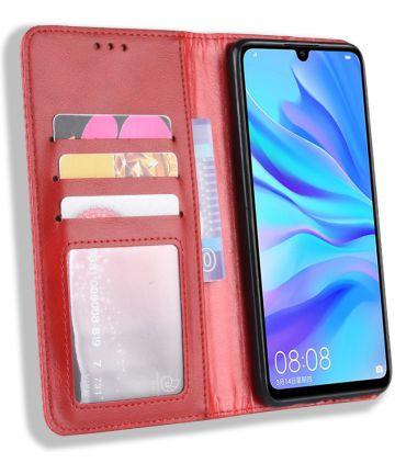 Huawei P Smart Plus 2019 Vintage Portemonnee Hoesje Rood Hoesjes