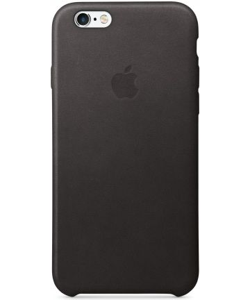 Apple iPhone 6s Lederen Hoesje Zwart Hoesjes