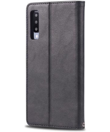 AZNS Samsung Galaxy A50 Book Case Hoesje Wallet Stand Zwart Hoesjes
