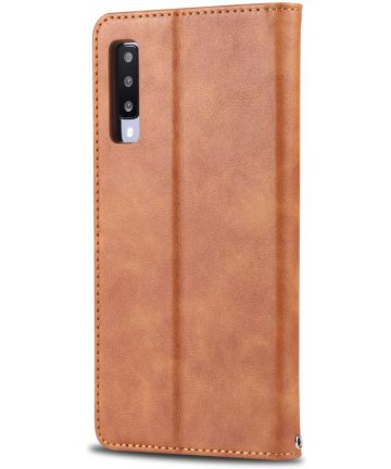 AZNS Samsung Galaxy A50 Book Case Hoesje Wallet Stand Bruin Hoesjes