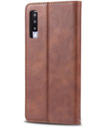 AZNS Samsung Galaxy A50 Book Case Hoesje Wallet Stand Coffee