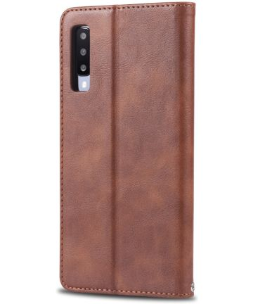 AZNS Samsung Galaxy A50 Book Case Hoesje Wallet Stand Coffee Hoesjes