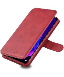 AZNS Huawei P30 Lite Portemonnee Stand Hoesje Rood