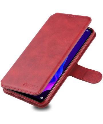 AZNS Huawei P30 Lite Portemonnee Stand Hoesje Rood Hoesjes