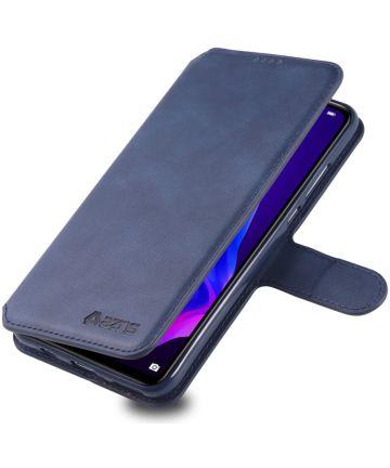 AZNS Huawei P30 Lite Portemonnee Stand Hoesje Blauw Hoesjes