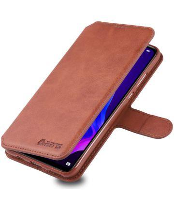 AZNS Huawei P30 Lite Portemonnee Stand Hoesje Bruin Hoesjes
