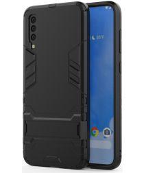 Hybride Samsung Galaxy A70 Hoesje Zwart