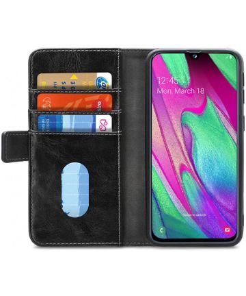Mobilize Elite Gelly Wallet Samsung Galaxy A40 Hoesje Book Case Zwart Hoesjes