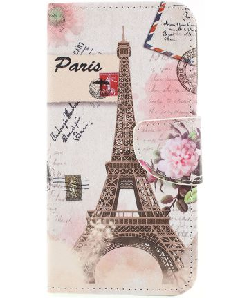 Samsung Galaxy A50 Book Case Hoesje Wallet met Print Eiffeltoren Hoesjes