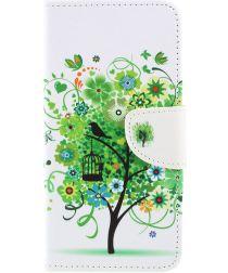 Samsung Galaxy A50 Book Case Hoesje Wallet met Print Boom
