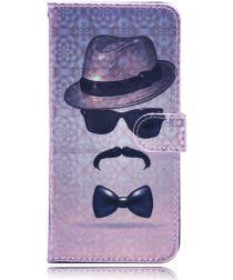 Samsung Galaxy A50 Book Case Hoesje Wallet met Print Gentleman