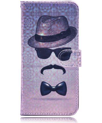 Samsung Galaxy A50 Book Case Hoesje Wallet met Print Gentleman Hoesjes