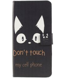 Samsung Galaxy A50 Book Case Hoesje Wallet Print Don't Touch