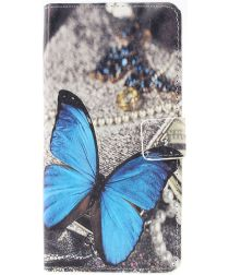Samsung Galaxy A50 Book Case Hoesje Wallet met Print Vlinder