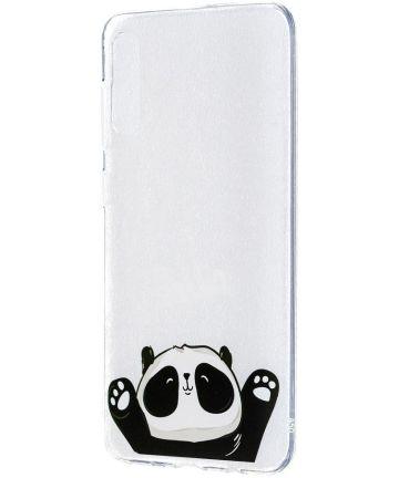 Samsung Galaxy A50 Hoesje TPU met Cute Panda Print Hoesjes