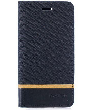 Huawei P30 Pro Linnen Portemonnee Hoesje Zwart Hoesjes