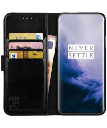 Rosso Element OnePlus 7 Pro Hoesje Book Cover Zwart