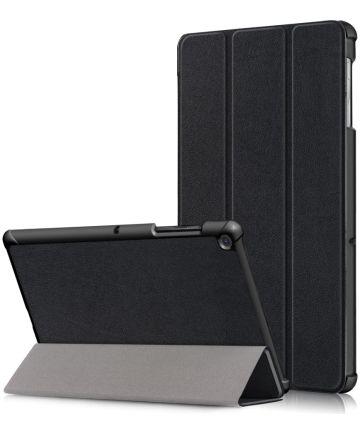 Samsung Galaxy Tab S5e Hoes Tri-Fold Zwart Hoesjes